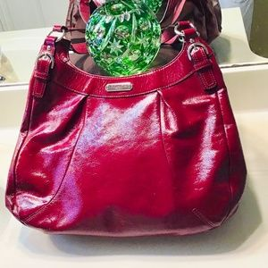 Coach Soho Crimson Red Patent Leather H1276-F19708
